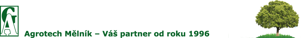 Logo společnosti Agrotech Mělník s.r.o zabývající se hnojivy a přepravou